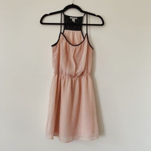 Charlotte Russe Polyester Pink&faux leather dress